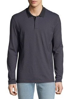 Theory Men's Gamma Jacquard Long-Sleeve Polo Shirt