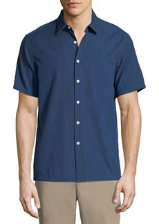 Theory Men's Irving Canvas Short-Sleeve Sport Shirt