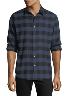 Theory Men's Irving Check Flannel Shirt