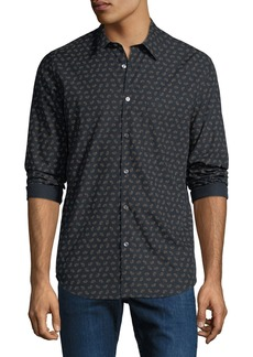 Theory Men's Irving Crown Print Sport Shirt