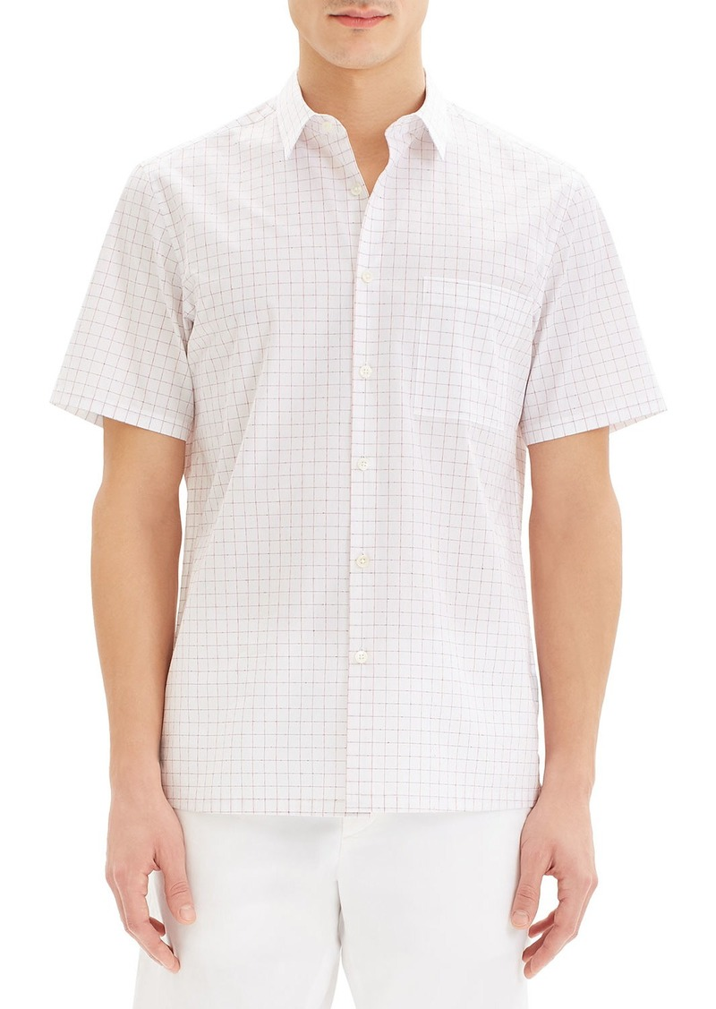 Theory Mens Grid Flannel Long Sleeve Woven