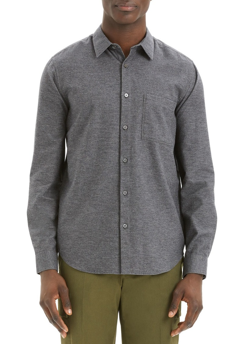Theory Men's Irving Maxson Cotton Sport Shirt