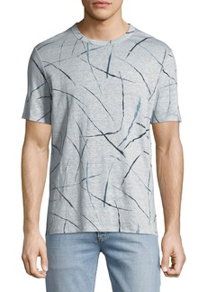 Theory Men's Kelton Slash-Print Jersey T-Shirt