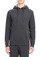 Theory Men's Lounge Crimden Striped-Sleeve Hoodie Sweatshirt