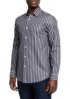 Theory Men's Menlo Draw-Stripe Sport Shirt