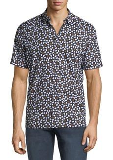Theory Men's Murrary Driggs-Print Short-Sleeve Sport Shirt