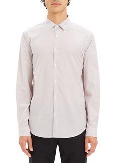 Theory Men's Murrary Grid Poplin Sport Shirt