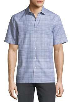 Theory Men's Murray Crosshatch Short-Sleeve Sport Shirt
