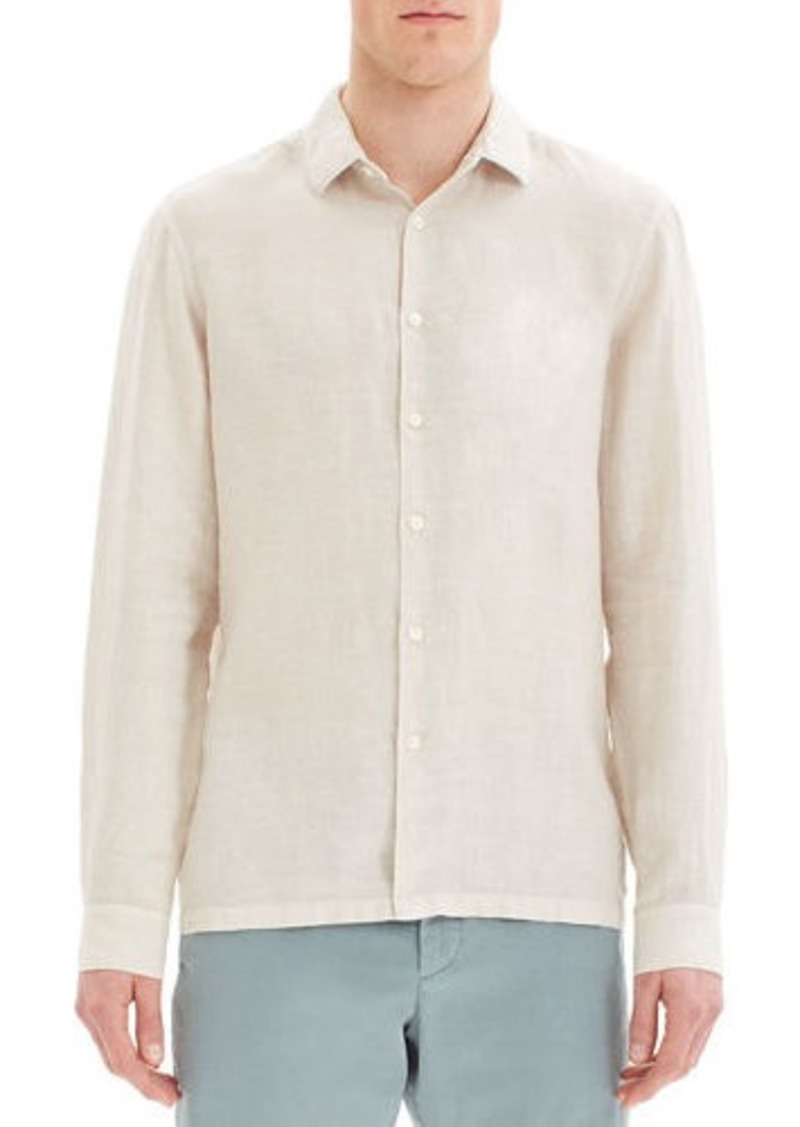 Theory Men's Murray Summer Linen Long-Sleeve Sport Shirt