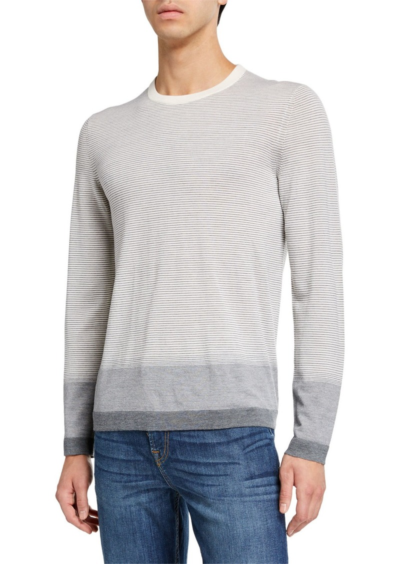 Theory Men's New Sovereign Striped Wool Sweater