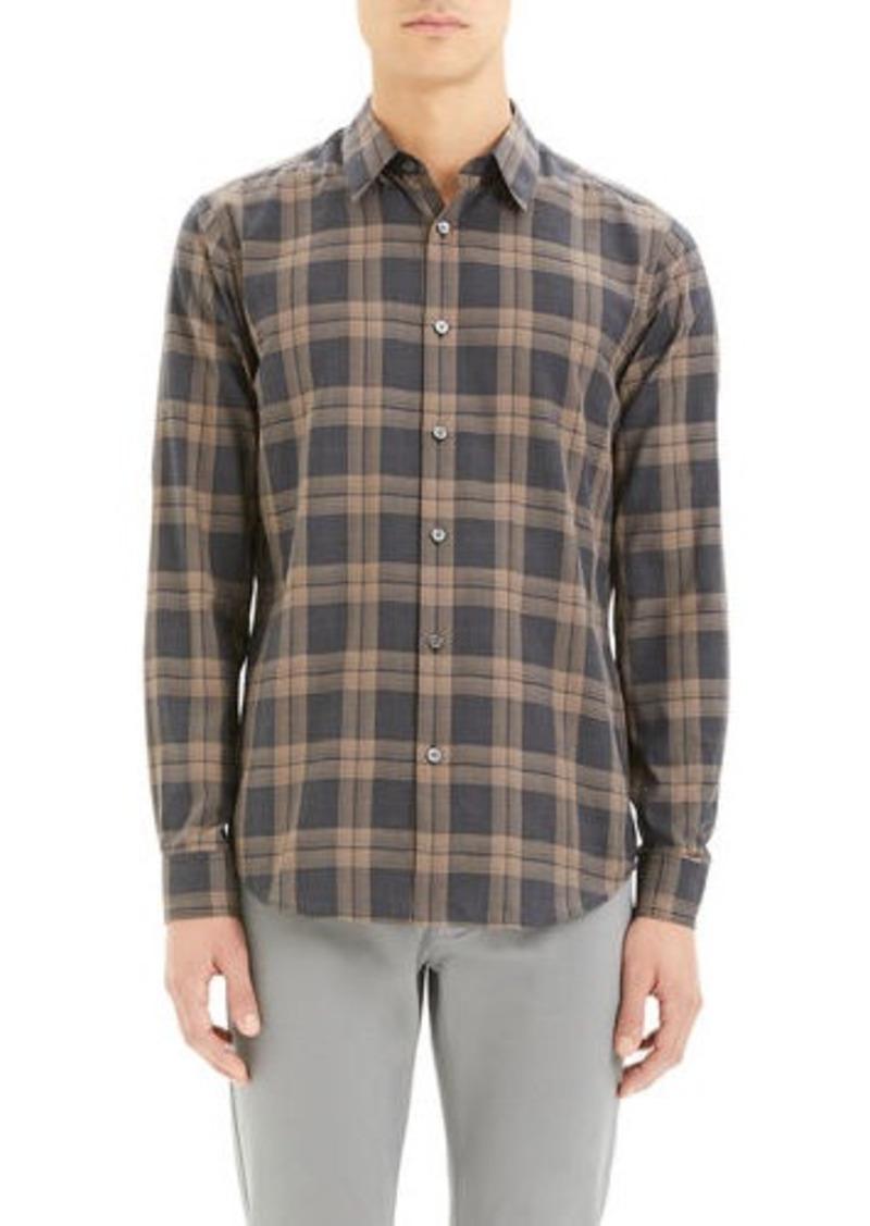 Theory Men's Phoenix Venlo Check Sport Shirt