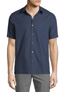 Theory Men's Printed Fil Coupe Irving Sport Shirt