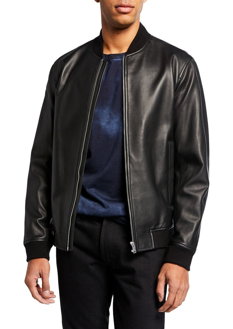 Theory Men's Rhodes Brenton Leather Bomber Jacket