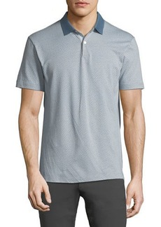 Theory Men's Sillar Jacquard Standard Polo Shirt