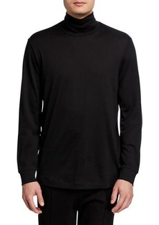 Theory Men's Solid Long-Sleeve Funnel-Neck T-Shirt