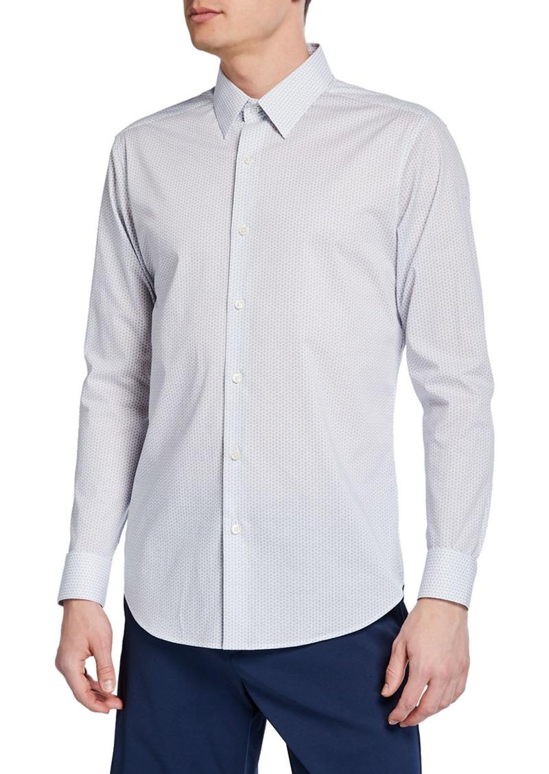 Theory Men's Sylvain Orton-Print Sport Shirt