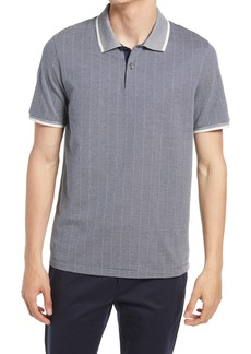 Men's Theory Tipped Regular Fit Two-Tone Short Sleeve Pique Polo