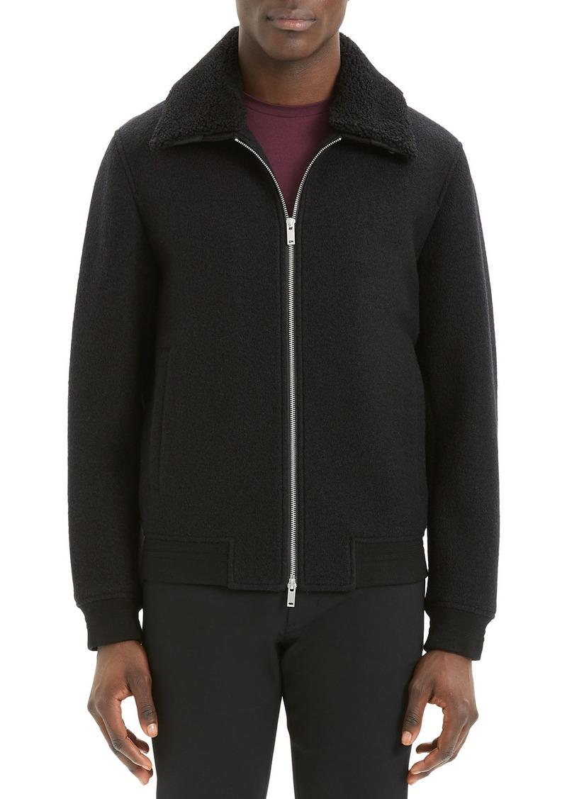 Theory Men's Wyatt Bergen Shearling-Collar Jacket