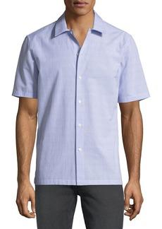 Theory Men's Wyoming Textured Short-Sleeve Sport Shirt