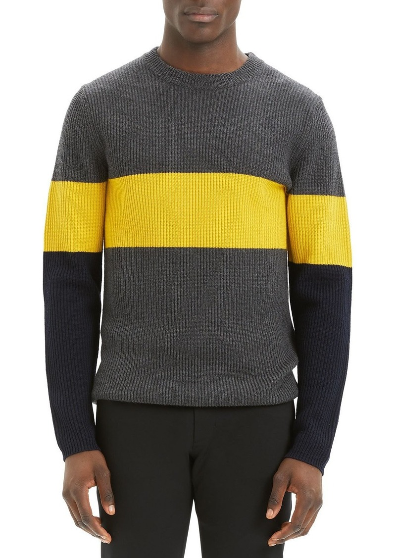 Theory Men's Zoren Cashmere Wool Colorblock Sweater