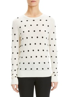 Theory Merino Wool Polka Dot Sweater