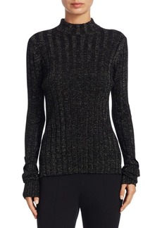 Theory Metallic Merino Wool Sweater