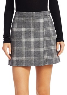 Theory Mini Plaid Skirt