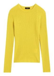 Theory Mirzi Regal Wool Rib-Knit Sweater