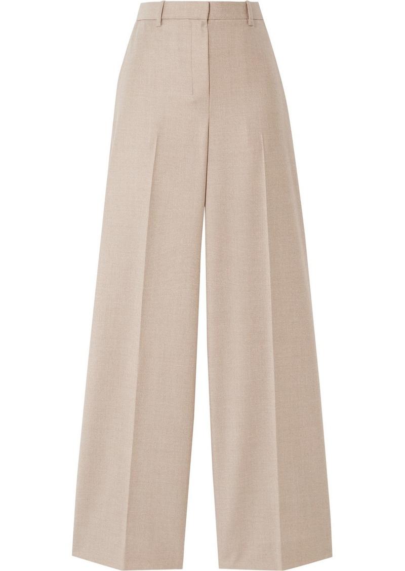 Theory Mélange Wool Wide-leg Pants
