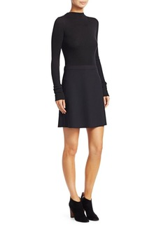 Theory Mock Mini Combo Dress