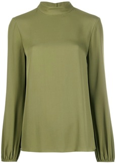 Theory mock neck jersey top