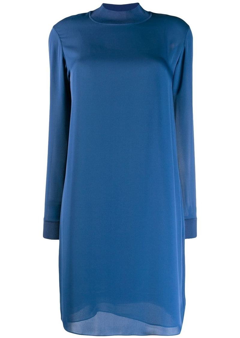Theory mock neck shift dress