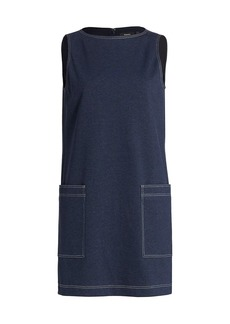 Theory Mod Denim Shift Dress