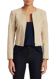 Theory Morene Cropped Suede Jacket