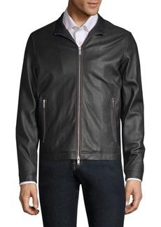Theory Morvek Lkelleher Leather Moto Jacket
