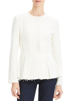 Theory Movement Fitted Raw-Edge Peplum Jacket