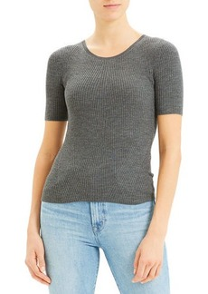 Theory Moving Rib Regal Wool Tee