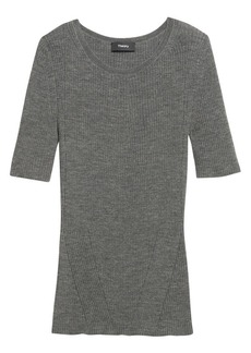 Theory Moving Rib Wool Tee