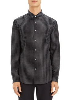 Theory Murrary Cotton Flannel Shirt