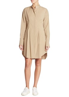 Theory Narthus B Stretch-Cotton Shirtdress