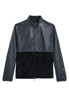 Theory Nathan Packable Leather Jacket