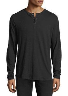 Theory Nebulous Long-Sleeve Henley T-Shirt