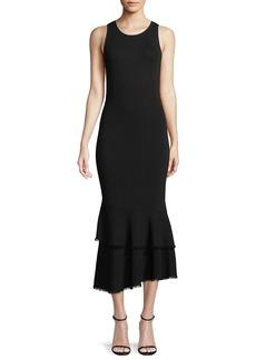 Theory Nilimary Prosecco Knit Midi Dress