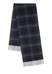 Theory Novelty Cashmere & Wool Plaid Scarf