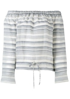 Theory off-shoulders striped blouse
