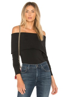 Theory Off The Shoulder Jersey Top