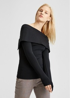 Theory Off-The-Shoulder Jersey Top