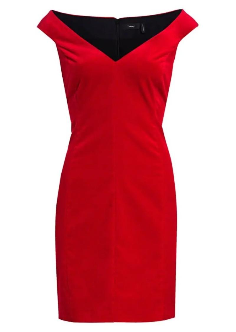 Theory Off-the-Shoulder Sheath Dress