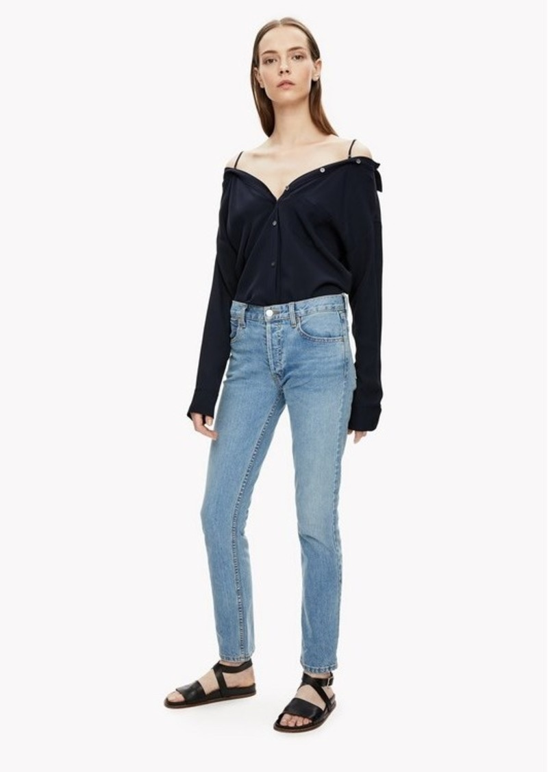Theory Off-The-Shoulder Shirt