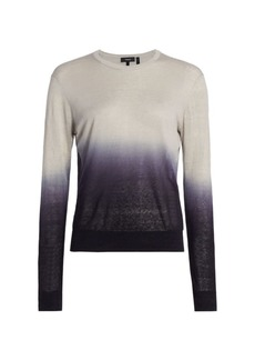 Theory Ombre Crewneck Pullover
